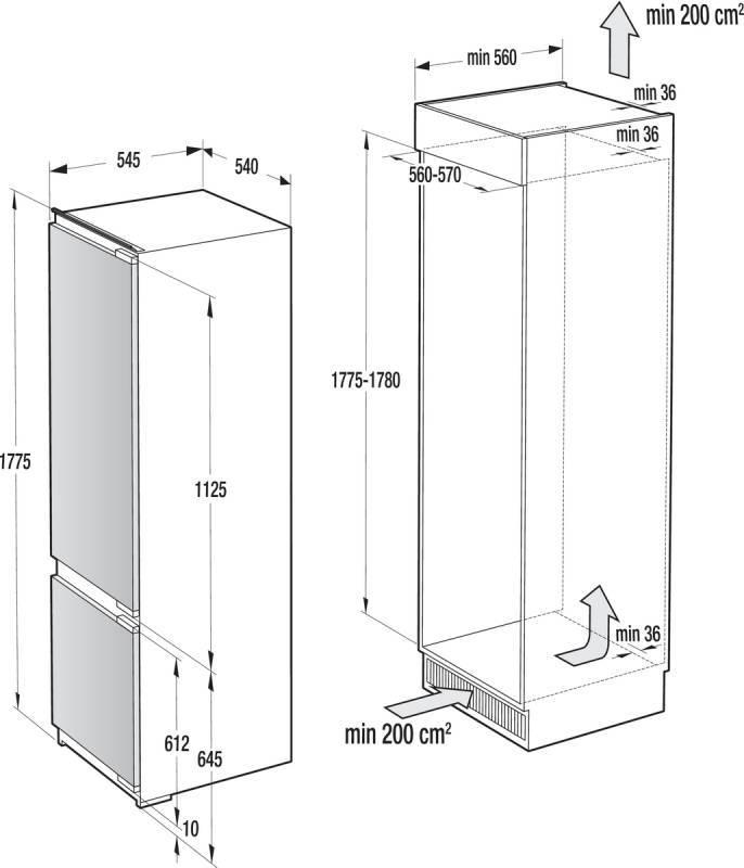 Холодильник Gorenje RKI 5181 KW белый - фото 3