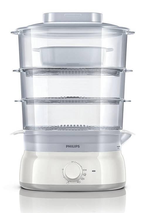 Пароварка Philips HD9125 белый - фото 2