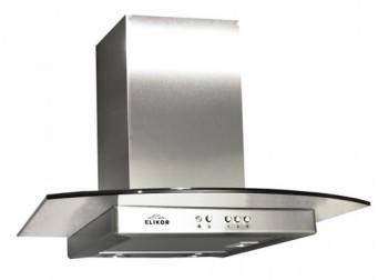 Каминная вытяжка Elikor Кристалл 60Н-430-К3Г нержавеющая сталь / тонир. галоген