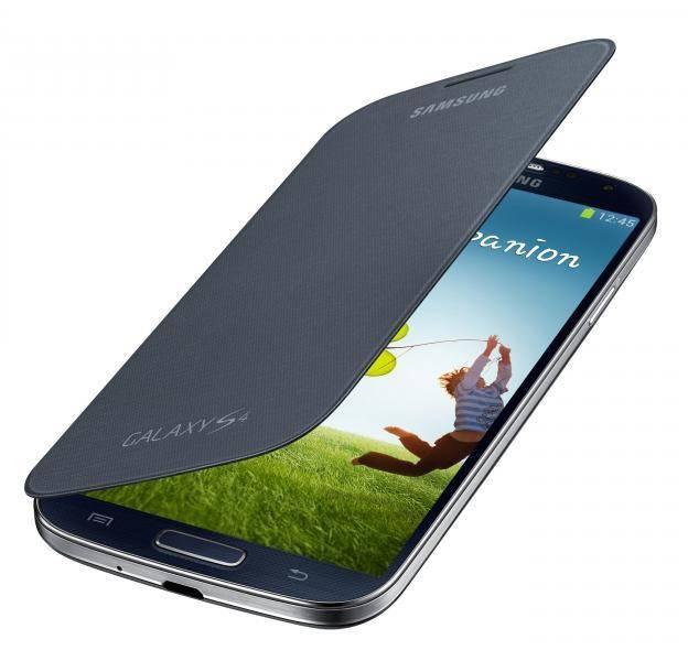 Чехол Samsung EF-FI950BBE, для Samsung Galaxy S4, темно-серый (EF-FI950BBEGRU) - фото 1