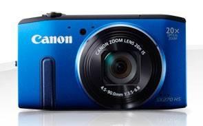 Фотоаппарат Canon PowerShot SX270 HS синий - фото 3