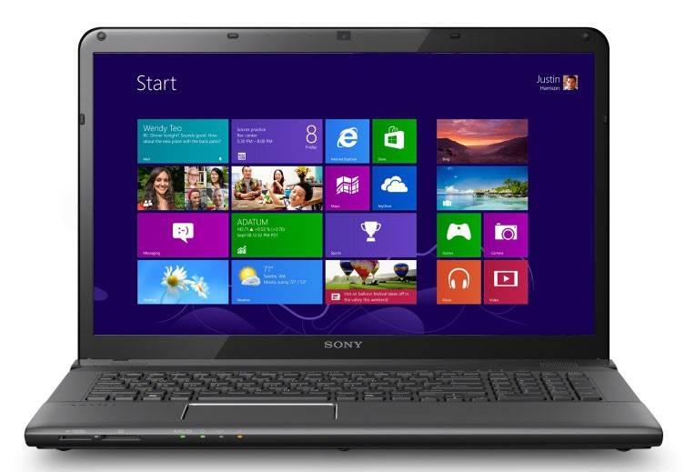 """Ноутбук 17.3"""" Sony SVE1713V1RB черный - фото 1"""