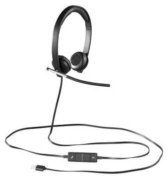 Наушники с микрофоном Logitech H650E черный - фото 1