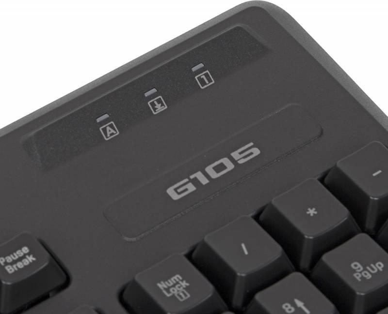 Клавиатура Logitech G105 черный (920-005056) - фото 5