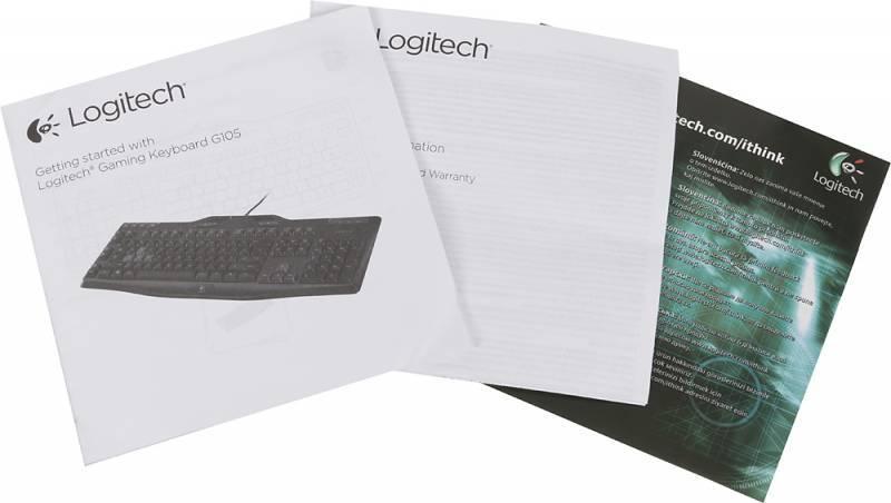 Клавиатура Logitech G105 черный (920-005056) - фото 10