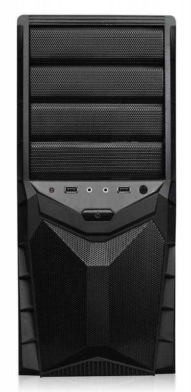 Корпус ATX 450W Formula FA-011B черный - фото 2