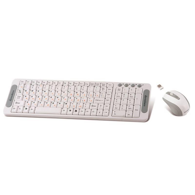 Комплект клавиатура+мышь Mediana KM-306 белый/белый - фото 2