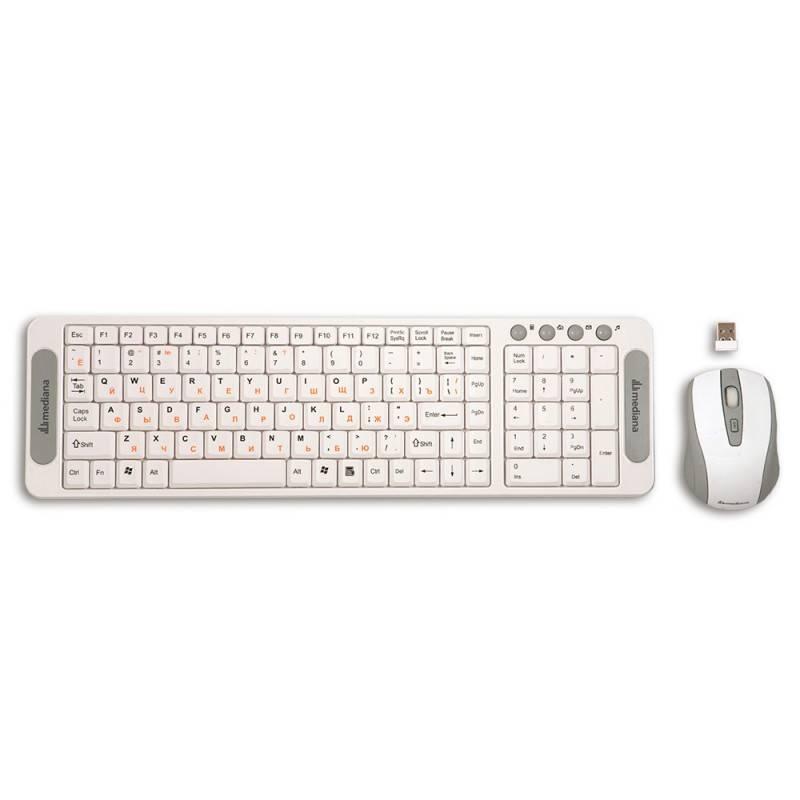 Комплект клавиатура+мышь Mediana KM-306 белый/белый - фото 3