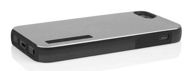 Чехол Incipio для iPhone 5/5S Dual PRO Shine Titanium Silver/Obsidian Black (IPH-875) - фото 4