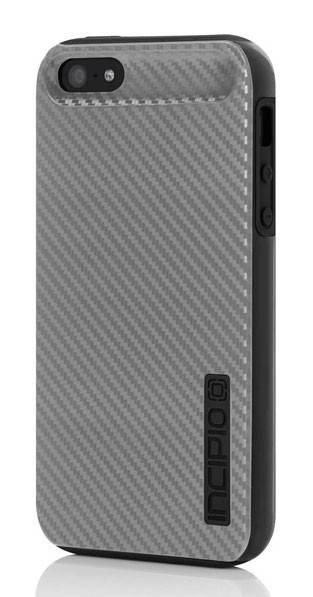 Чехол Incipio для iPhone 5/5S Dual PRO CF Silver/Black Silicone (IPH-914) - фото 1