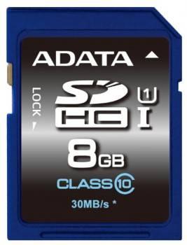 Карта памяти SDHC 8Gb Class10 A-Data ASDH8GUICL10-R