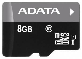 Карта памяти microSDHC 8Gb Class10 A-Data AUSDH8GUICL10-RA1