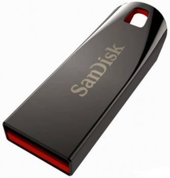 Флеш диск Sandisk Cruzer Force 32ГБ USB2.0 серебристый / красный