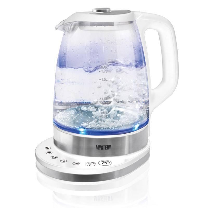 Чайник электрический Mystery MEK-1628 серебристый - фото 1