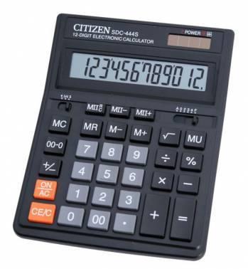 Калькулятор бухгалтерский Citizen SDC-444S черный