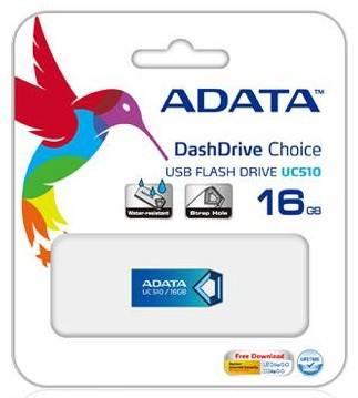 Флеш диск A-Data DashDrive Choice UC510 16ГБ USB2.0 синий - фото 2