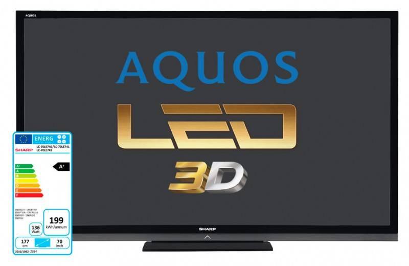 "Телевизор LED 70"" Sharp Aquos LC70LE741ERU черный - фото 1"