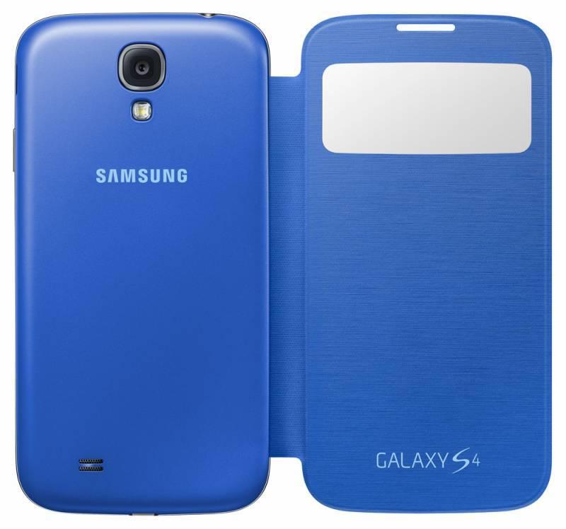 Чехол (флип-кейс) Samsung S-View, EF-CI950BCE голубой - фото 4