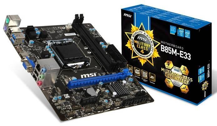 Материнская плата Soc-1150 MSI B85M-E33 mATX - фото 1