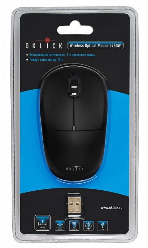 Мышь Oklick 575SW черный - фото 6