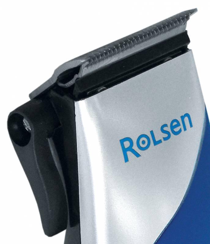 Машинка для стрижки Rolsen RHC-174E синий/серебристый - фото 3