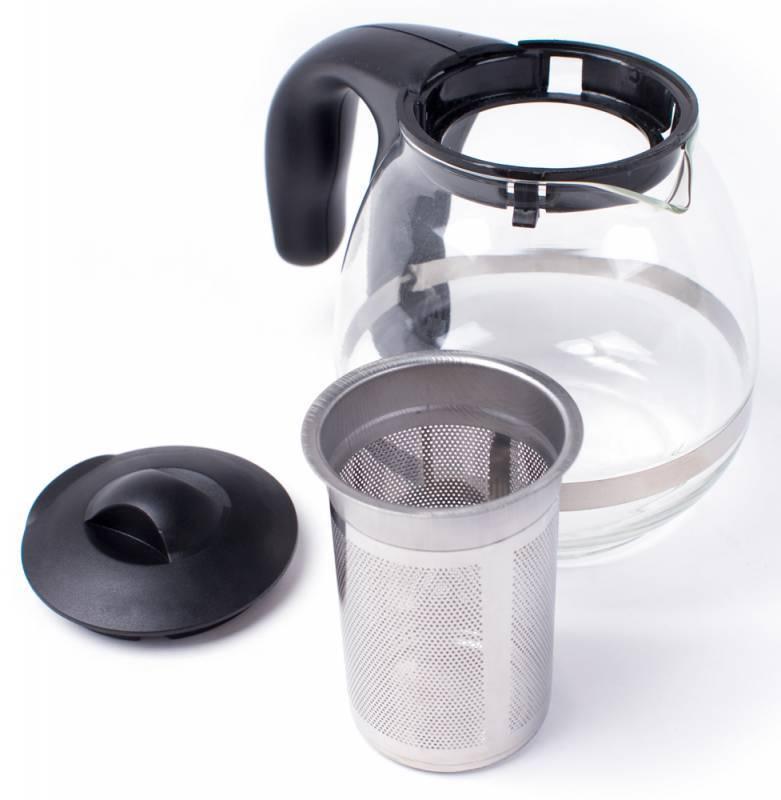 Чайный набор Rolsen RK3718M +TCG-500 серебристый/черный - фото 3