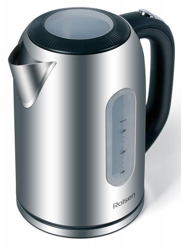 Чайный набор Rolsen RK3718M +TCG-500 серебристый/черный - фото 1