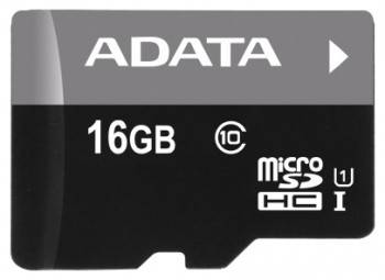 Карта памяти microSDHC 16Gb Class10 A-Data AUSDH16GUICL10-RA1