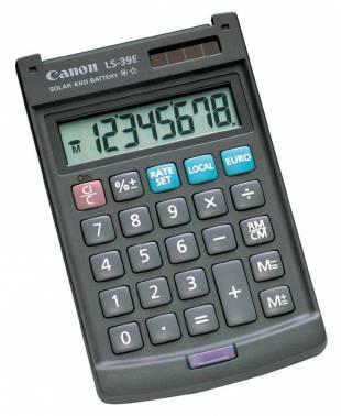 Калькулятор Canon LS-39E темно-серый 8-разр.