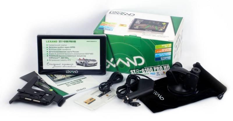 "GPS-навигатор Lexand STR-6100PRO HD 6"" черный - фото 5"