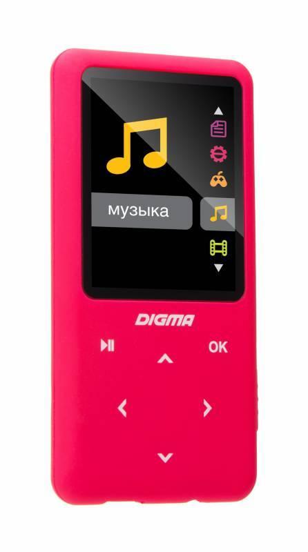 mp3-плеер 8Gb Digma S2 розовый - фото 2