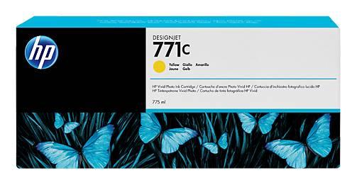 Картридж струйный HP 771C B6Y10A желтый - фото 1