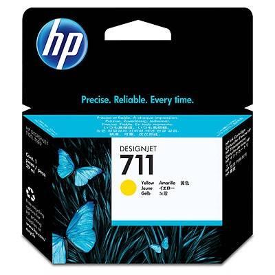 Картридж струйный HP №711 CZ132A желтый - фото 1
