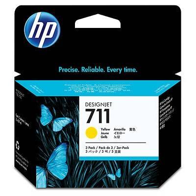 Картридж струйный HP №711 CZ136A желтый - фото 1