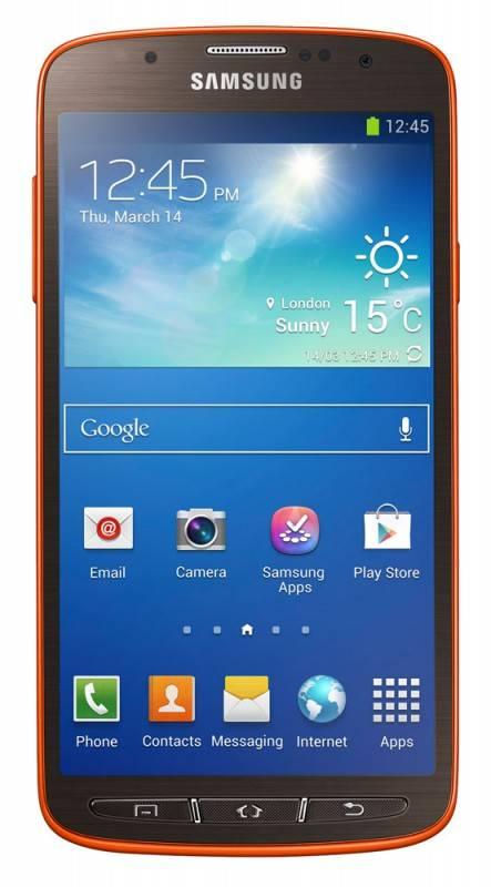 Смартфон Samsung Galaxy S4 Active GT-I9295 16ГБ оранжевый - фото 1