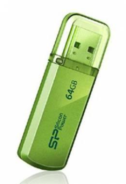 Флешка Silicon Power Helios 101 64ГБ USB2.0 зеленый (SP064GBUF2101V1N)