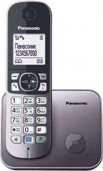 Телефон Panasonic KX-TG6811RUM серый металлик - фото 1
