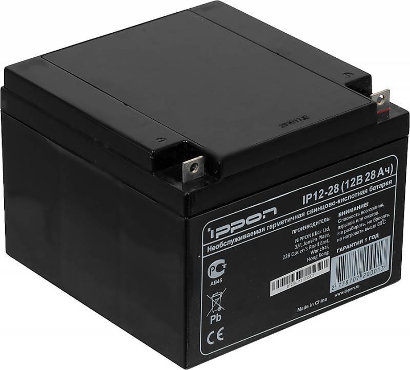Батарея для ИБП Ippon IP12-28 12В 28Ач - фото 2