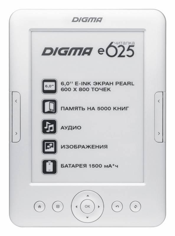 "Электронная книга 6"" Digma E625 серебристый - фото 1"