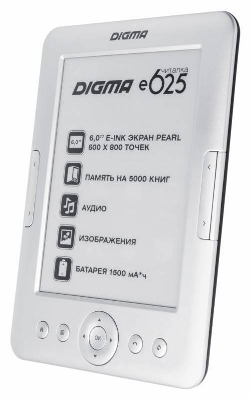 "Электронная книга 6"" Digma E625 серебристый - фото 2"