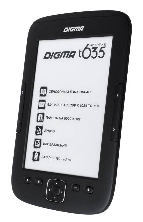 """Электронная книга 6"""" Digma T635 черный - фото 2"""