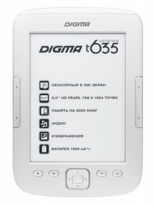 "Электронная книга 6"" Digma T635 серебристый - фото 1"