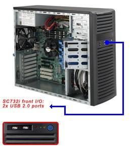 Корпус SuperMicro CSE-732i-865B 865 Вт черный