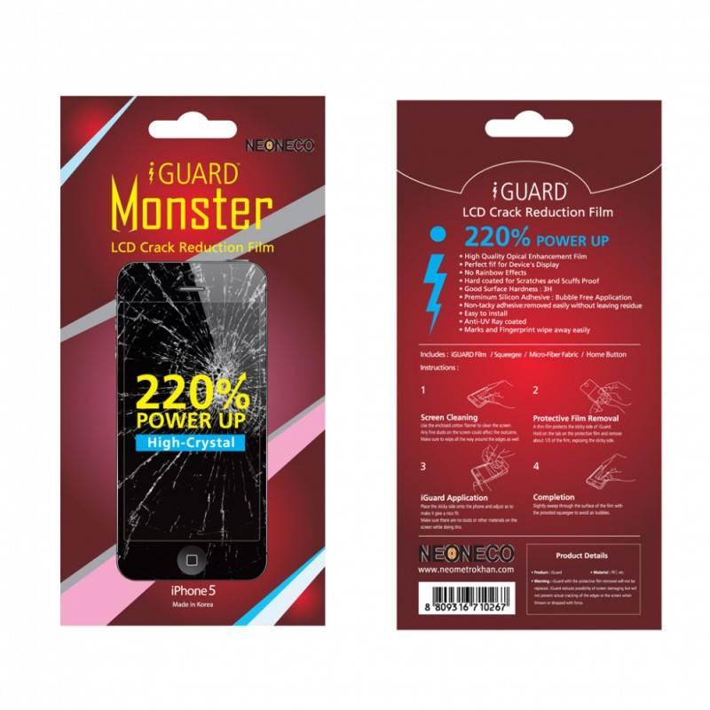 Защитная плёнка для смартфона IGUARD  для iPhone 5 Neoneco iGuard Monster - фото 1