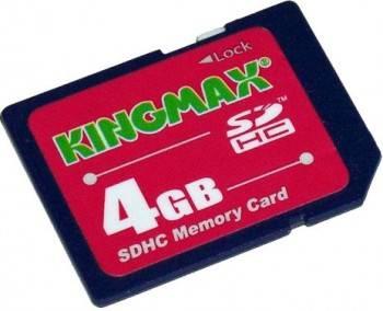 Флеш карта SDHC 4Gb class4 Kingmax