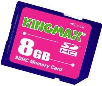 Флеш карта SDHC 8Gb class2 Kingmax