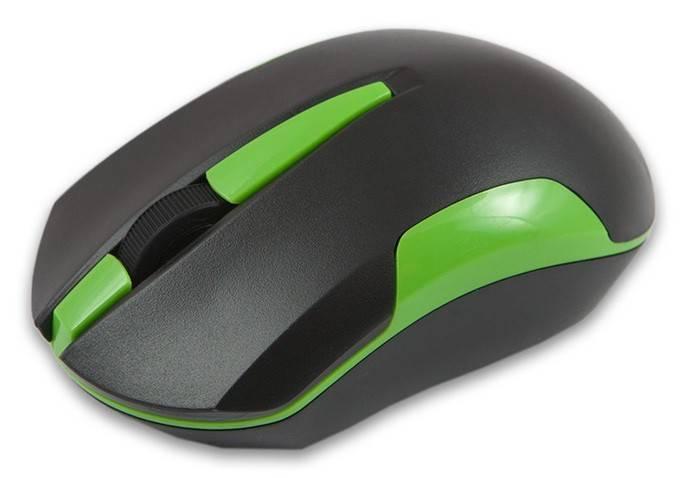 Мышь Mediana WM-351 черный/зеленый - фото 1