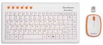 Комплект клавиатура+мышь Mediana KM-313 белый / белый