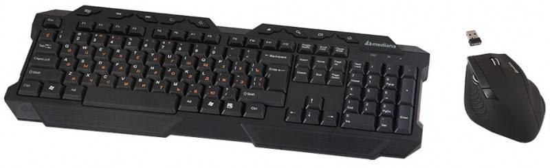 Комплект клавиатура+мышь Mediana KM-510 черный/черный - фото 3
