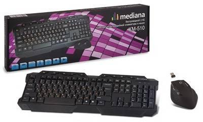 Комплект клавиатура+мышь Mediana KM-510 черный/черный - фото 5